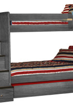 Stair Bunk Bed Twin over Twin