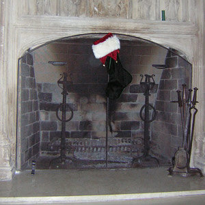 2 Arched Blacksmith Custom 20s Mantle Before
