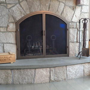 Thin Frame Arch with Screen Doors Only After
