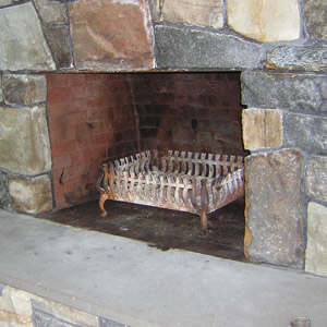 With Foot Plate to cover Fire Brick at Opening Before