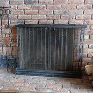 Aged Iron Rustic with Window Pane Before