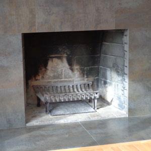 Original Steel Frame in Charcoal Before