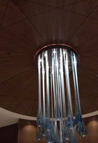 Sapele ceiling light