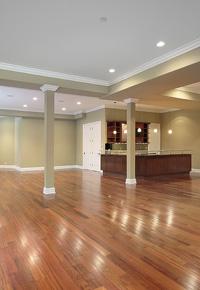 hardwood as basement flooring option