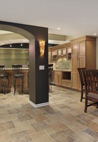 tile as basement flooring option