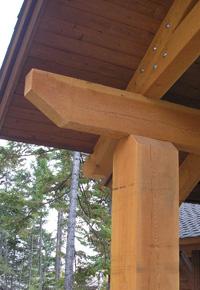 Douglas Fir timbers in construction