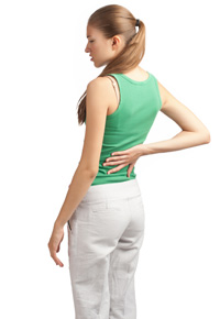 girl with hurting back