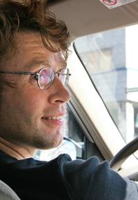 man at wheel