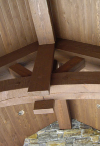 Douglas Fir timber truss