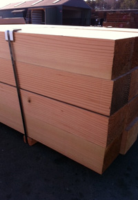 Douglas Fir timbers in stock