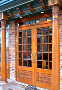 elaborately designed doors