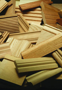 Pile of moulding