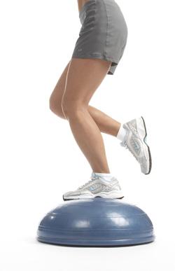 bosu for balance stabilization