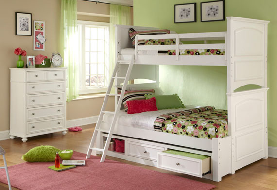 madison bunk bed twin over full