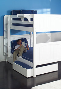 boys white maxtrix bunk bed underbed storage small