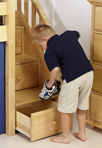 maxtrix stairs double as drawers