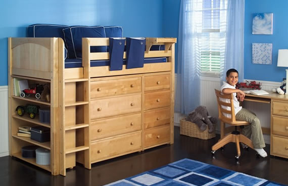 storage bed with bookshelf and dressers maxtrix