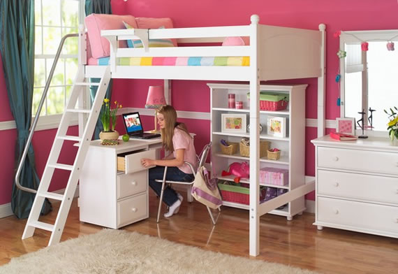 study loft bed by maxtrix with desk underneath