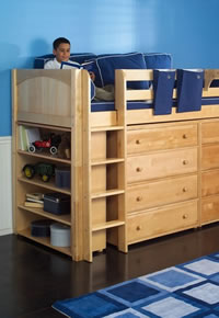 maxtrix storage bed with underbed dressers