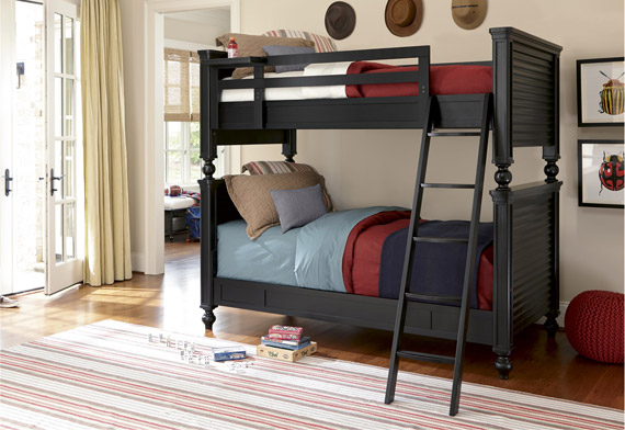 black collection all american bunk bed