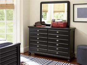 black collection map drawer dresser
