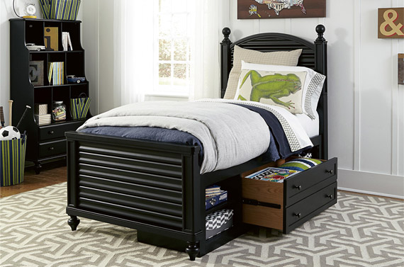 black collection reading bed twin