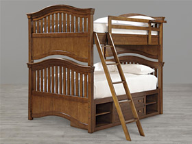 classics 4.0 brown full over full bunk bed