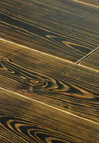 Rehmeyer Extreme Custom: Wide Reclaimed Heart Pine with black stain