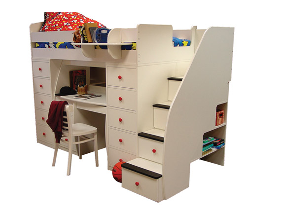 Space Organizer Twin with Desk & 2 Chests