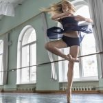 blonde haired teen ballerina spinning around
