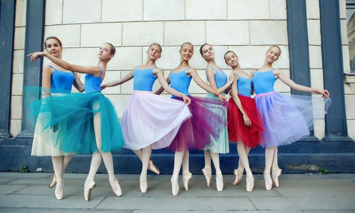teen ballerina girls ready for recital performance