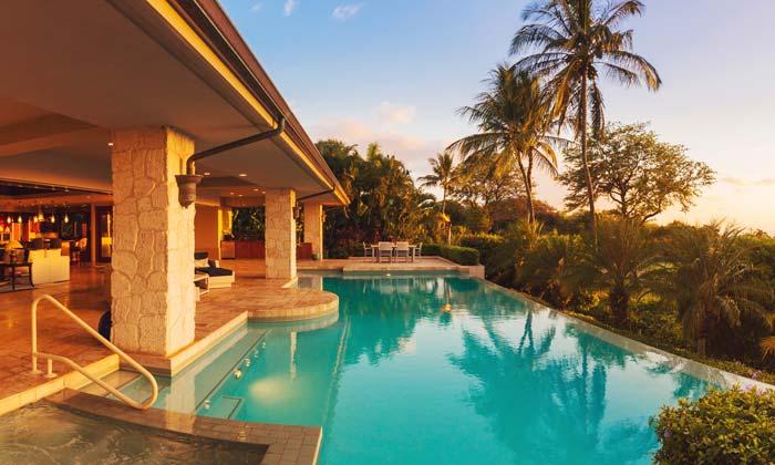 backyard luxury pool paradise