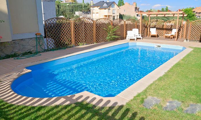small backyard inground pool